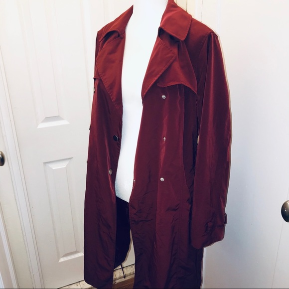 New York & Company Jackets & Blazers - New York & company red double breasted trench